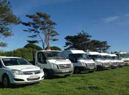Part of our fleet of vehicles